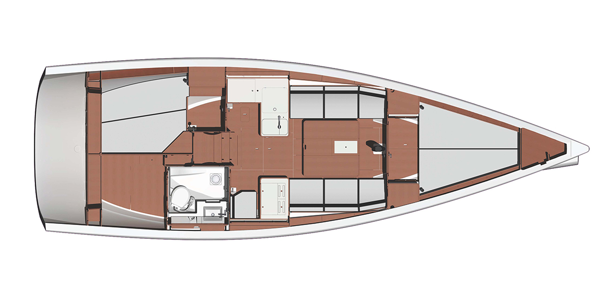 2 kabins layout – Dufour Performance 36