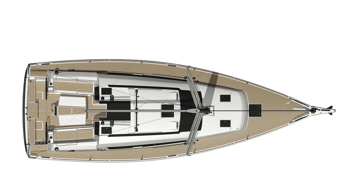 Dufour Grand Large 412 – Dekk
