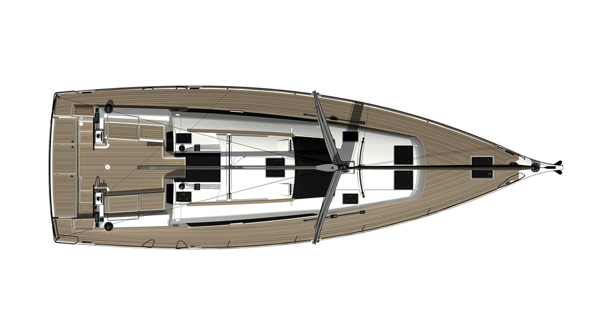 Dufour Grand Large 460 – Dekk