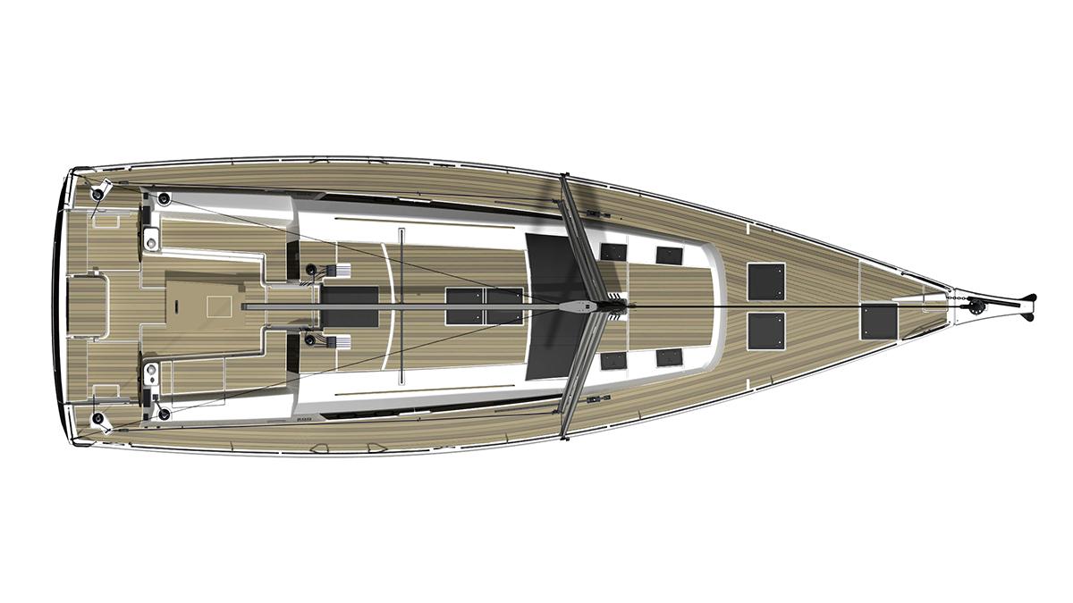 Dufour Grand Large 512 – Dekk